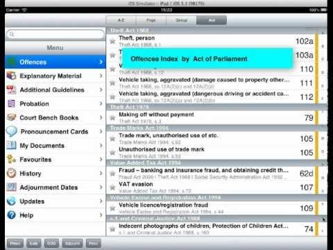 Sentencing Guidelines App Overview