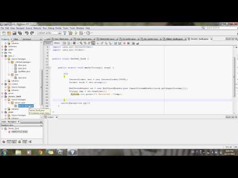 Socket programming in java | Client Server Program in Java Using netbeans