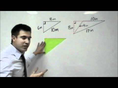 Algebra - Geometry: Area of a Triangle