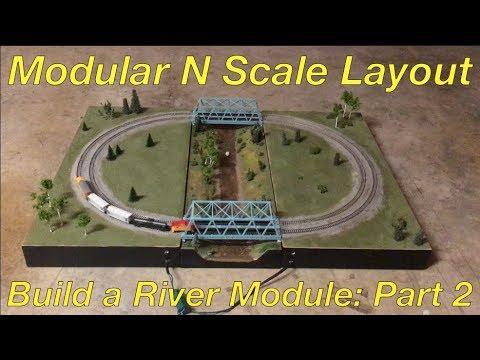 Modular N Scale Layout Part 4: Building a River Module (Part 2)