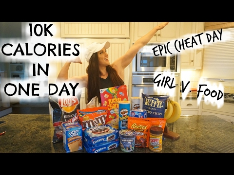 10,000 CALORIE CHALLENGE | Girl V. FOOD | EPIC CHEAT DAY – Katie Corio