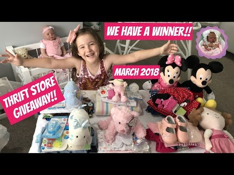 THRIFT STORE GIVEAWAY!! MARCH 2018 WE HAVE A WINNER!