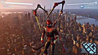 Download Spider-Man PS4 - Jumping Off Biggest Building In Avengers Stark Suit (Spiderman 2018) PS4 Pro Video