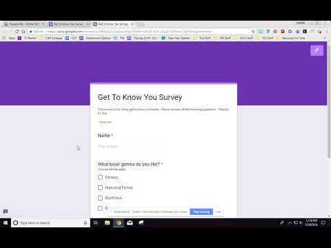 Creating a Student Survey with Google Forms - Question Types