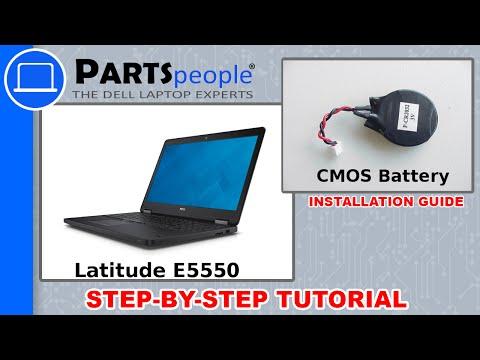 Dell Latitude E5550 CMOS Battery Replacement Video Tutorial