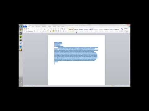 How to Single Space a Word Document