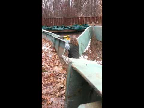 Fiberglass pool removal