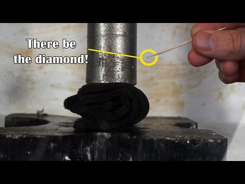 Can I Turn Graphite To Real Diamond With Hydraulic Press? (April Fools Joke method in microwave)