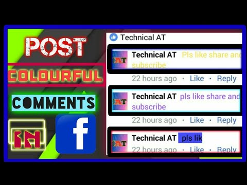 How to send colourful comments in facebook!!