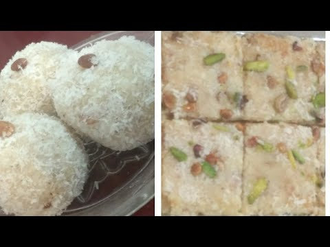 Coconut Laddu And Barfi Recipe || Festival Sweet Recipe || Sanobar's kitchen
