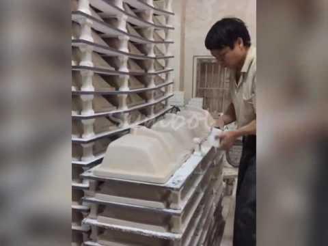 Inside Symbol Bathroom Ceramic Sink Factory
