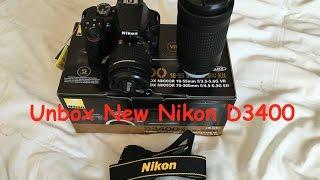 Unboxing New Nikon D3400 - Đập Hộp Nikon D3400