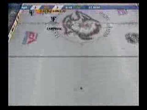NHL 07 PS2 CROSS ICE GLITCH GOAL
