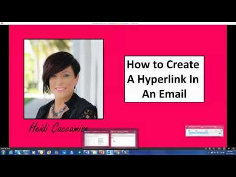 How To Create a Hyperlink In An Email