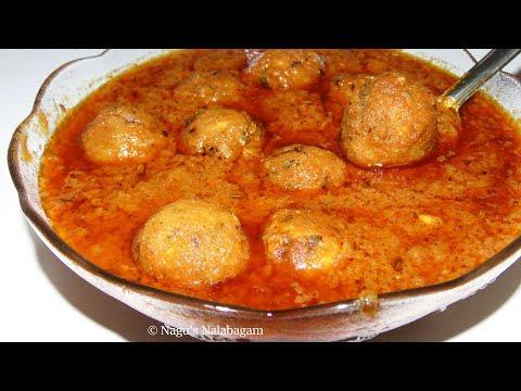 Raw Banana Kofta Curry Recipe - Vazhakkai Kofta Recipe - Raw Banana Kofta Sabzi Recipe