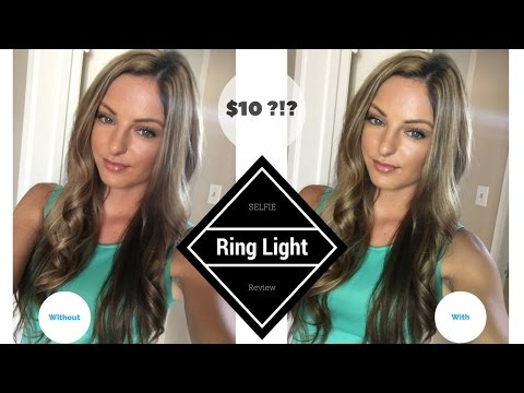 $10 LED Ring light?! Does it work??//Selfie ring light review for phone