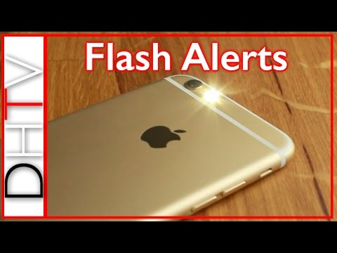 How To Setup Flash LED Alerts iPhone 6s, 6, 5, 4... Simple Tips
