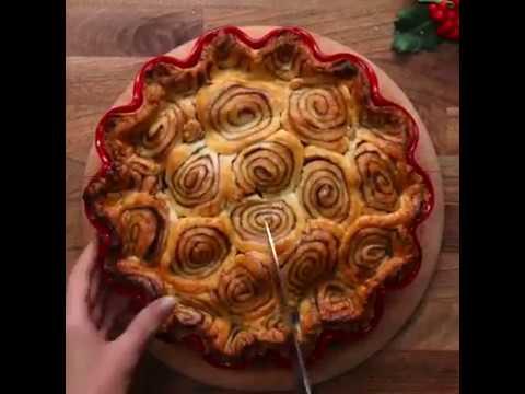 Cinnamon Swirl Apple Pie // Яблочный Пирог ''Корицевый вихрь'' // Om-Nom-nom