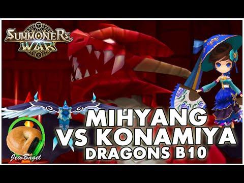 SUMMONERS WAR : Mihyang vs Konamiya - Dragons B10