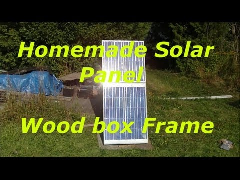 Homemade solar pannel 100w, wood backing and frame