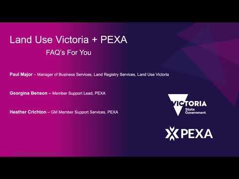 Land Use Victoria + PEXA - FAQ For You