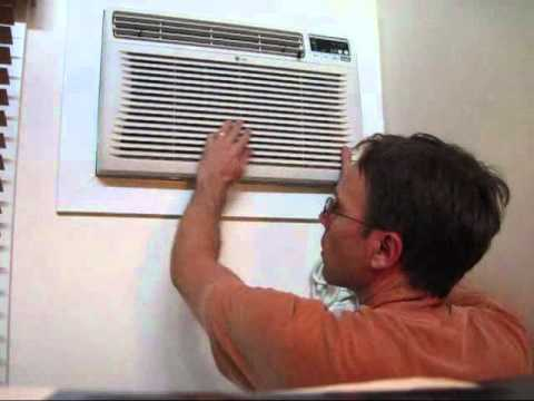Installing a New Air Conditioner (AC) Wall Unit - Part #3: putting the AC unit in the wall