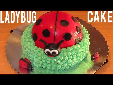 Ladybug Cake - How To Decorate A Cake - Step By Step - Birthday Cake