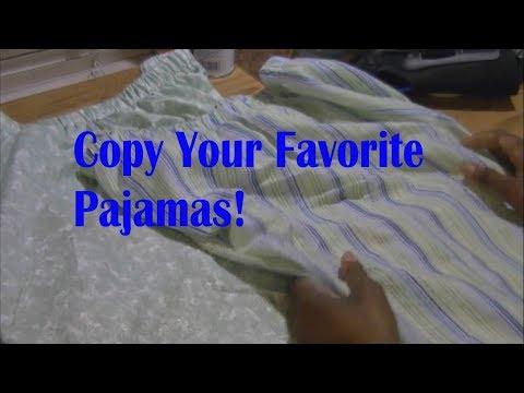 DIY Pajamas Duplicate Existing Pj's