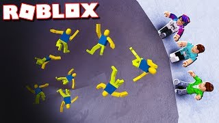 Roblox Adventures - PUSH NOOBS INTO A DEADLY PIT IN ROBLOX! (Push Ragdoll Noobs)
