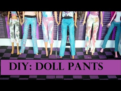 How to Make - Barbie Doll Pants (Doll Clothes) EASY