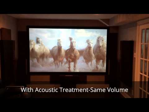 Home Theatre- The Difference with Acoustic Treatment (Kanye West- Bound 2)
