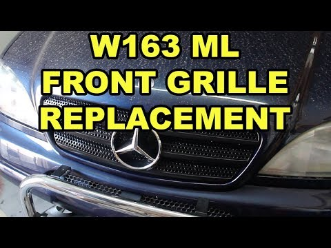 Mercedes-Benz ML320 (W163) Front Grille Replacement