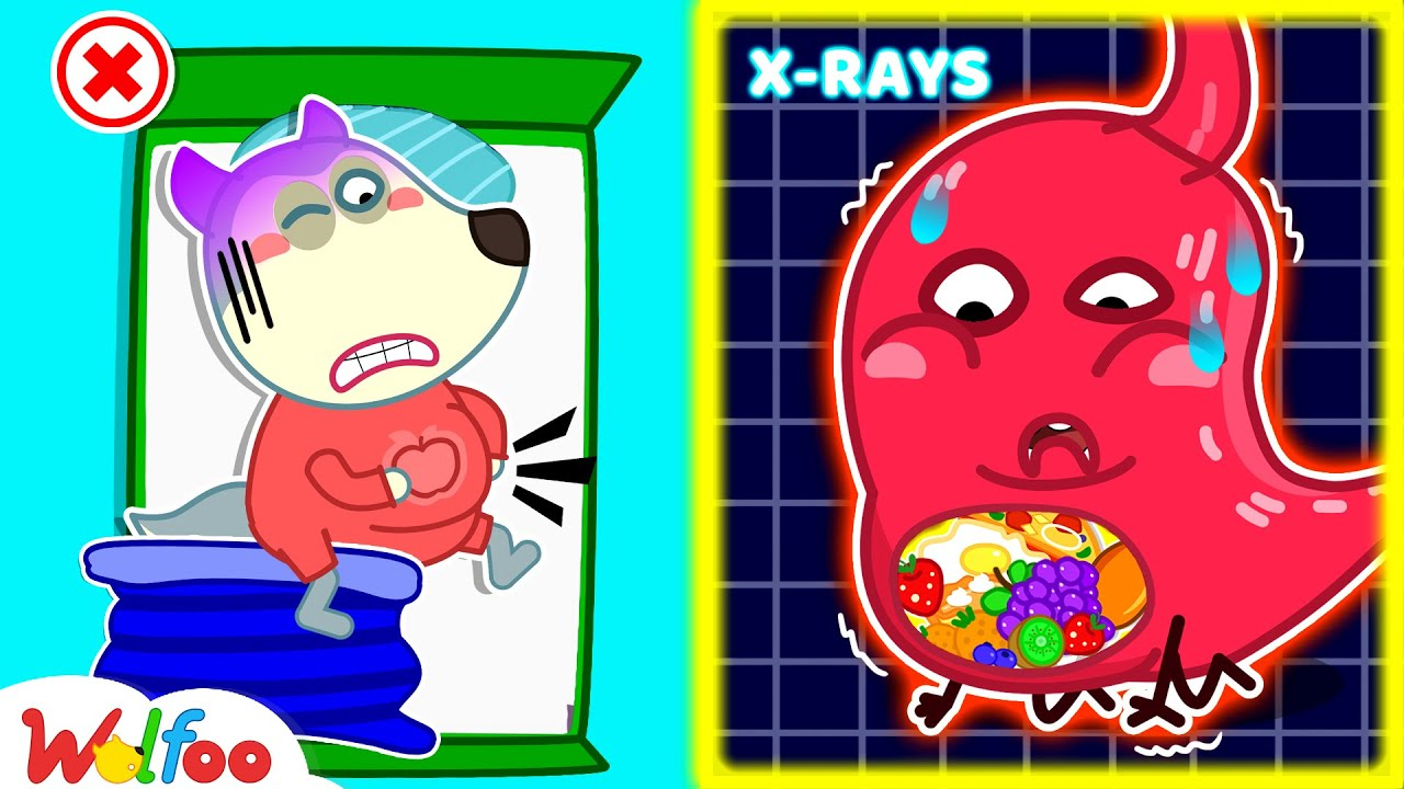 Wolfoo, Don't Overeat! - Your Stomach Got a Boo Boo - Learn Healthy Habits for Kids   Wolfoo Channel