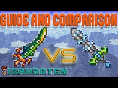 Influx Waver vs. Terra Blade // Guide and Comparison // Terraria 1.3.2