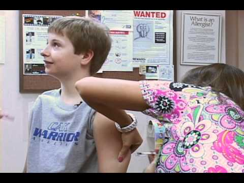 Watch This Kid Get Two Allergy Shots