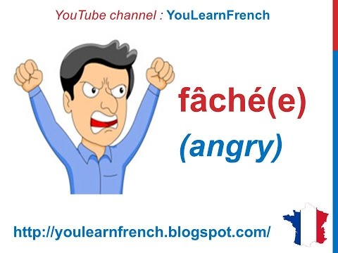 French Lesson 109 - Adjectives of emotion feeling mood - Adjectifs d'émotions sentiments humeurs
