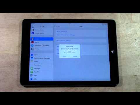 iPad Air - How to Reset Back to Factory Settings​​​ | H2TechVideos​​​