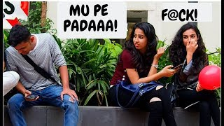 CUTE GIRLs  WET FART PRANK (MUMBAI) || TEAMBLADE