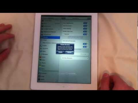 How to turn on Voice Dictation for the iPad 3