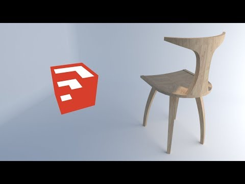How to make furniture in sketchup / Chair