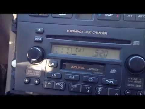 Unlock Acura Radio Code Entering Procedure