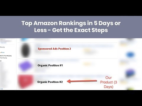 How to Rank at the Top of Amazon in 5 Days or Less