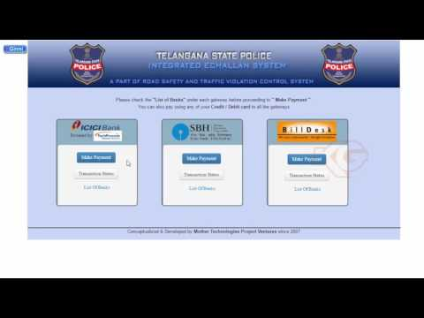 How to Pay Traffic Challans Hyderabad and Telangana State