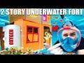 2 STORY UNDERWATER BOX FORT CHALLENGE