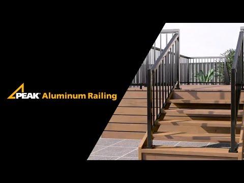 Peak Aluminum Railing - Stair Railing Installation