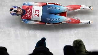 Scary Moment When American Luger Emily Sweeney Crashes On Final Run Of The Day