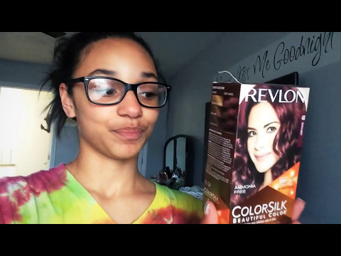 Dying my hair burgundy red!💆🏽