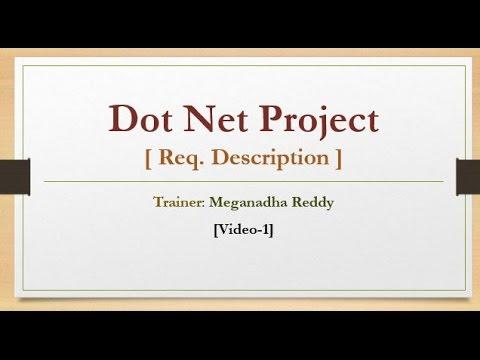 1  Dot Net Sample Project - Requirements Description