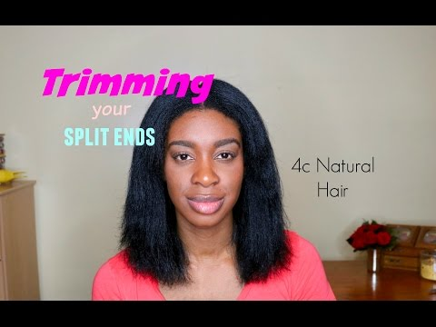 Do It Yourself how to Trim 4c hair video, Fix your split ends by cutting it off