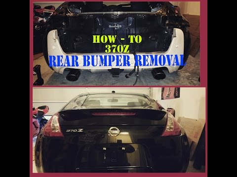 370z Rear Bumper Removal, Nissan - HOW-TO / TUTORIAL